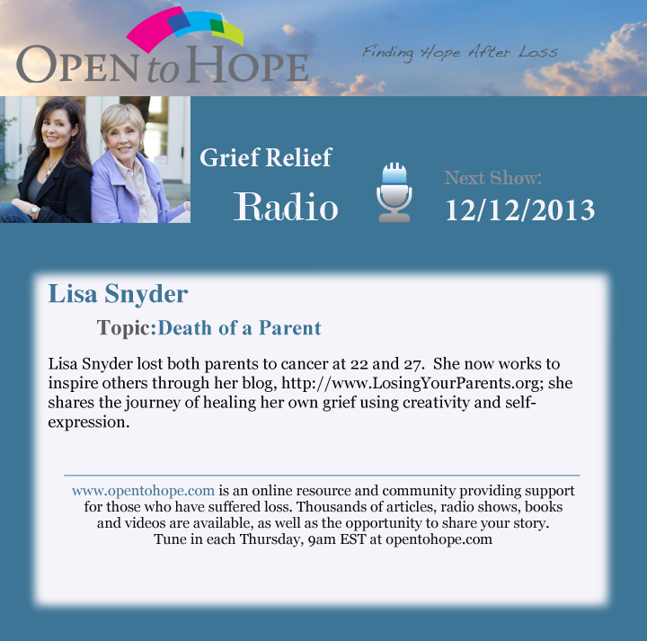 Lisa Snyder 12-12 Open To Hope